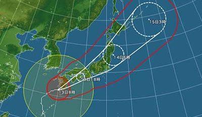 台風について